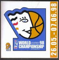 Germany 1998 / FIBA 13th Women's World Basketball Championship / Sticker - Apparel, Souvenirs & Other