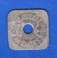 Nantes  20  Cents  Tramways - Monetary / Of Necessity