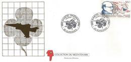 """Enveloppe Premier Jour D'émission Marcel DASSAULT 23 Janvier 1988 """"collection Du Bicentenaire"""" - FDC"""