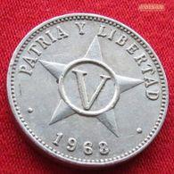 Cuba 5 Centavos 1968 KM# 34 - Cuba