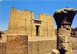 Edfu - Great Pylon Of Horus Temple - Formato Grande Viaggiata – E 4 - Cartoline