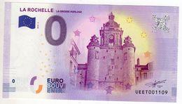 2018-2 BILLET TOURISTIQUE 0 EURO SOUVENIR N°UEET001102 LA ROCHELLE - EURO