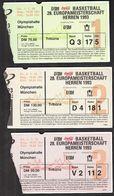 Germany 1993 / FIBA 28th European Basketball Championship Men / EUROBASKET / Ticket - Toegangskaarten
