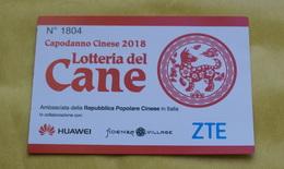 """BIGLIETTO """"LOTTERIA DEL CANE"""", CAPODANNO CINESE 2018 - Lottery Tickets"""