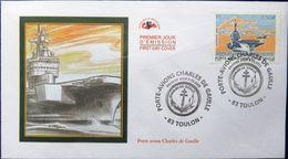 FRANCE 3557 FDC Premier Jour Porte-avions Charles De Gaulle Etendard Rafale Marine - 2000-2009