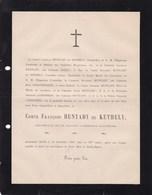 AUTRICHE AUSTRIA Comte François HUNYADY De KETHELY Chambellan Empereur D'Autriche 79 Ans 1882 D'ARENBERG - Décès