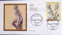 """FRANCE 3558 FDC Premier Jour Sculpture """" Esclave Rebelle Esclave Mourant """" Léonard De Vinci Da Vinci - 2000-2009"""