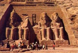 The Temple Of Abu Sembel - Formato Grande Viaggiata – E 4 - Cartoline