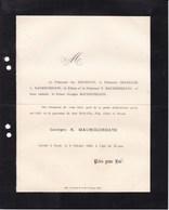 PARIS Georges N. MAUROCORDATO 16 Ans 1883 Familles Princesse MOUROUSY CHARICLEE - Décès