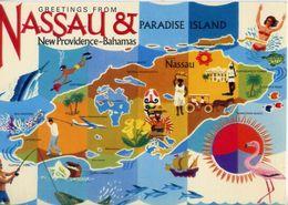 Greetings From Nassau - New Providence - Bahamas - Formato Grande Non Viaggiata – E 4 - Cartoline