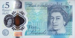 GREAT BRITAIN 5 POUNDS 2015 (2016) P-394a UNC [GB394a] - 1952-… : Elizabeth II