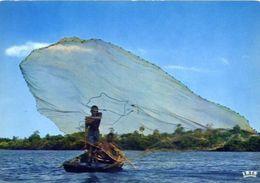 Haiti - Peche A L'epervier - Cast Net Fishing - Formato Grande Viaggiata – E 4 - Cartoline