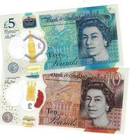 GREAT BRITAIN 5 & 10 POUNDS 2015 - 2017  P.394-395 UNC [GB394a] - 1952-… : Elizabeth II