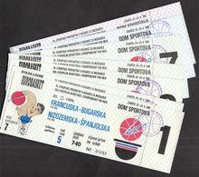 Yugoslavia Croatia Zagreb 1989 / FIBA 26th European Basketball Championship Men / EUROBASKET / Ticket - Biglietti D'ingresso