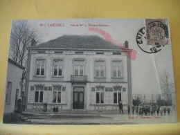 B16 8727. CPA 1912. CHIEVRES. VILLA DE Mme J. RICHARD-ANTOINE - ANIMATION  (+ DE 20000 CARTES A MOINS 1 EURO) - Chièvres