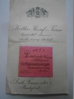 OK22.20 Hungary Albrecht Ferenc Lawyer -Trianon Minorities -SOL-CLUB Founder Member Budapest -Koller ésTsa Budapest 1930 - Facturas & Documentos Mercantiles