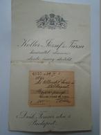 OK22.23 Hungary Albrecht Ferenc Lawyer -Trianon Minorities -SOL-CLUB Founder Member Budapest -Koller ésTsa Budapest 1939 - Facturas & Documentos Mercantiles