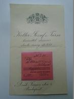 OK22.24 Hungary Albrecht Ferenc Lawyer -Trianon Minorities -SOL-CLUB Founder Member Budapest -Koller ésTsa Budapest 1938 - Facturas & Documentos Mercantiles