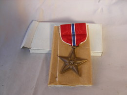 WW2 US MEDAILLE BRONZE STAR AVEC BOITE EMBALLAGE - 1939-45