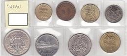 Macau - Set Of 8 Coins - Ref07 - Macao