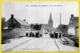 CPA 59 AVESNES-LES-AUBERT Nord - La Rue De L'Erclin ° Delsart éditeur à Valenciennes - France