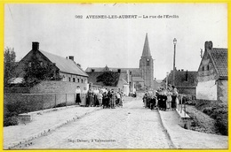 CPA 59 AVESNES-LES-AUBERT Nord - La Rue De L'Erclin ° Delsart éditeur à Valenciennes - Autres Communes