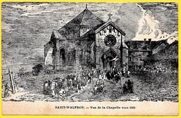 CPA 08 St SAINT-WALFROY (MARGUT) Ardennes - Vue De La Chapelle Vers 1868 - France