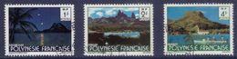 Polynésie 132 133 135 Paysages (1979) Oblitérés - Polynésie Française