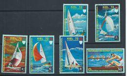 Equatorial Guinea 1972 Munich Summer Olympics Yacht & Rowing Part Set 6 FU - Summer 1972: Munich
