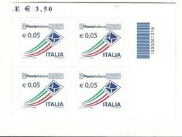 ITALIA QUARTINA CODICE A BARRE 0,05 CENTESIMI BUSTINA - 2011-...: Neufs
