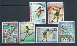 Equatorial Guinea 1972 Munich Olympics Second Issued Part Set 6 FU - Summer 1972: Munich