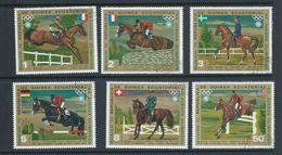 Equatorial Guinea 1972 Munich Olympics Equestrian Events Part Set 6 FU - Summer 1972: Munich