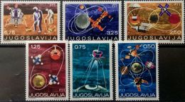 Yugoslavia, 1971, Mi. 1409-14, Space, MNH - Space