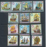 Equatorial Guinea 1974 Sail Boat Part Set 13 FU - Ships