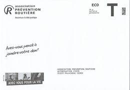 Enveloppe T Eco Association Prévention Routière Voiture Auto - Postal Stamped Stationery