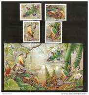Taiwan 2006 Conservation Bird Stamps & S/s Fairy Pitta Bamboo Fauna Mushroom Flower Butterfly Dragonfly - 1945-... Republic Of China