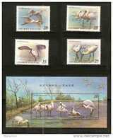Taiwan 2004 Conservation Birds Stamps & S/s Black-faced Spoonbill Fishing Migratory Bird Fauna - 1945-... Republic Of China