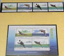 Taiwan 2002 Cetacean Stamps & S/s Whale Dolphin Fishing Boat Whaler Fauna - 1945-... Republic Of China