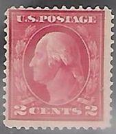 US 1912  Sc#406  2c Washington Perf 12   MLH*   2016 Scott Value $6.50   RenaM - Neufs