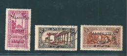 Colonie Timbres D'Alaouites De 1925/30  N°26 + 29 Et 31 Oblitérés - Usati