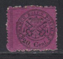 Etats Pontificaux 1868 Yvert 23 * B Charniere(s) - Etats Pontificaux