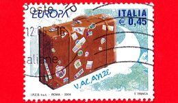 ITALIA - Usato - 2004 - Europa - 49ª Emissione - 0,45 - Valigia Chiusa - 6. 1946-.. Repubblica