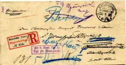 1895 RATZEBUHR (Pommern) R-Brief N. Berlin-zurück Nach Ratzebuhr - Deutschland