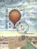 Comoros (Comores) Airship, Balloon Post Flight, Transport Used Cancelled Block M/S (U-3) - Post