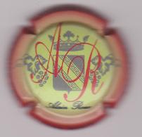 Capsule Champagne ROUX Alain ( 1a ; Jaune Contour Rouge ) {S08-18} - Champagne