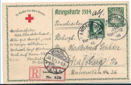Bay391 / Ganzsache, Aufgewertet, Einschreiben Landau Nach Strassburg, Auf AK König Ludwig - Bayern