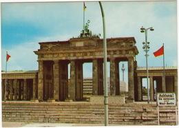 Berlin - Brandenburger Tor ; ' Achtung ! Sie Verlassen Jetzt West-Berlin'  - (D.) - Brandenburger Deur