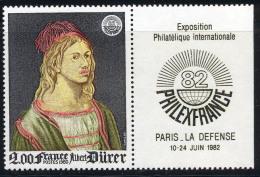 France 1980 Yvert 2090a ** TB Logo Philexfrance - France