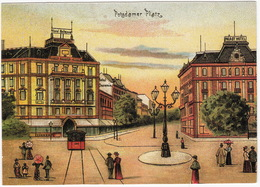 Alt-Berlin - Potsdamer Platz : TRAM/STRAßENBAHN - 'Hotel Bellevue', 'Saxonia' & 'Palast Hotel' - (DDR) - Mitte