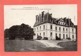 QUINTENIC   LAMBALLE  PLEDELIAC  RARE  CHATEAU DE LA VALLEE  An:  1911    Etat:  TB   Edit:  P H - France